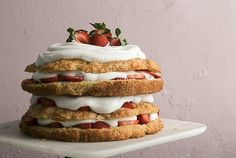 Big-Ass Biscuit Strawberry Shortcake with Chamomile Whipped Cream