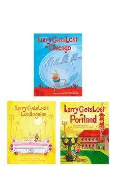Larry Gets Lost Book Bundle { We have read Larry Gets Lost In Seattle and loved how Larry stumbled on all the important sights . Cute way to learn about new cities! }