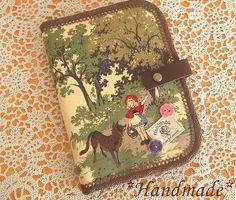 Notebook Case Roseハンドメイド 通帳 母子手帳ケース 赤ずきんちゃん インテリア 雑貨 Handmade ¥1500yen 〆05月23日