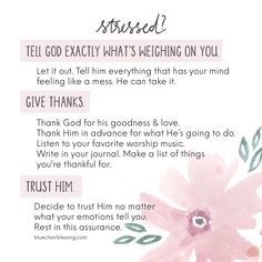 3 Steps to Take When You Are Stressed // Trust in God Prayer Board, My Prayer, Bible Verses Quotes, Bible Scriptures, Love The Lord, Spiritual Inspiration, Trust God, Christian Quotes, Prayers
