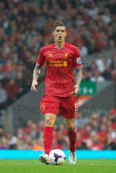 ♠ Liverpool's Vice Captain Daniel Agger in action against Stoke City at Anfield. (Pic by David Rawcliffe/Propaganda) Liverpool Legends, Liverpool Football Club, Liverpool You'll Never Walk Alone, Liverpool Fc Wallpaper, Stoke City Fc, Best Football Team, One Team, Premier League, Action