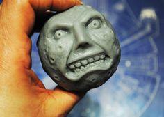 Handmade Large 3D Parody Majora's Mask Moon by NerdySoap on Etsy
