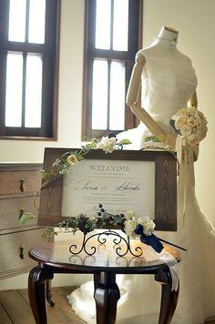 ナチュラルで可愛らしいアンティーク調のウェルカムボード♪ アリア・パリュール -aria parure -