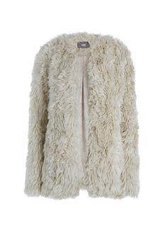dc30780ac94c3 Fake fur coat  COAT LOUISYA aanrader! Dress Trousers