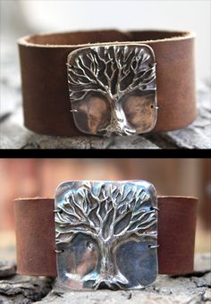tree of life. leather cuff Nice and Pretty +dreadstop @DreadStop