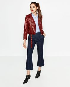 LEATHER EFFECT JACKET-View all-OUTERWEAR-WOMAN | ZARA United States