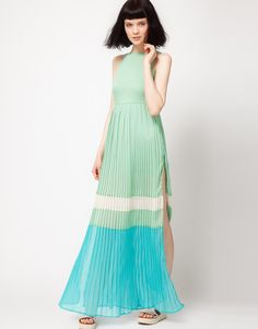 Color Block Maxi Dress. Nice color combo.