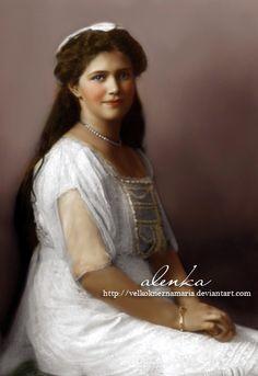 Grand Duchess Maria Nikolaevna Romanova of Russia (1899-1918) four years prior her violent death