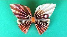 Geldscheine falten, Geldgeschenke: Schmetterling - YouTube