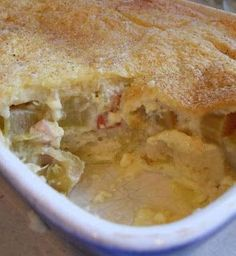 5 Favorite Rhubarb Recipes - #3 Shirley's Rhubarb Bread Pudding
