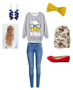 """""""#4 Outfit For School"""" by chrissymusicfashion ❤ liked on Polyvore featuring art"""