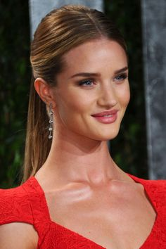 Where: The Oscars party, 2012 The style: Smooth and sleek perfectly sums up the model's ponytail at the Oscars.