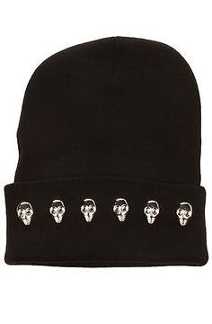 Harlett  The Skull Beanie in Black  $22.00 #MissKL #MissKLCoachella
