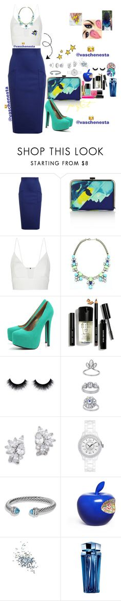 """""""Untitled #621"""" by loo0oove-16 ❤ liked on Polyvore featuring Olympia Le-Tan, Coast, Narciso Rodriguez, AX Paris, Bobbi Brown Cosmetics, Topshop, Kenneth Jay Lane, Christian Dior, David Yurman and Li Lihong"""