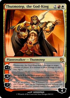 Magic: The Gathering - Thutmotep, the God-King MTG by peterrab