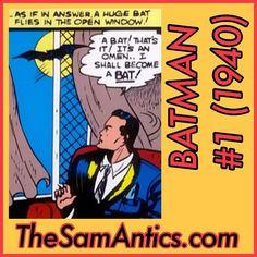 Batman #1 (1940).  Yup.  It was that easy.