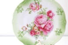 Vintage Germany Porcelain Floral Plate Tea Party Replacement China