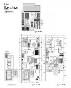 Contoh Denah Desain Rumah 2 Lantai Type 200