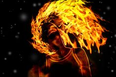 on fire clip art   Girl on Fire by ADesignToRemember
