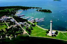 Aerial view of Put-in-Bay, South Bass Island, OH