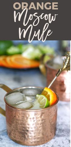 An orange moscow mule is the perfect cocktail for any day of the week. You only need 4 ingredients and a thirst for citrus! | honeyandbirch.com | cocktail | drink | recipe | classic | variations | bar | wedding | recipes | easy | vodka