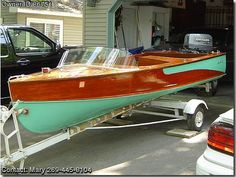 Classic Boats For Sale, Classic Wooden Boats, Old Boats, Small Boats, Wooden Boats For Sale, Runabout Boat, Boat Restoration, Boat Engine, Boat Projects