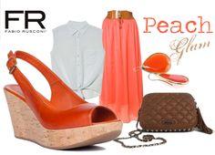 Fashionable Peach Style ;) http://www.fabiorusconishop.it/primavera-estate-2013/sandalo-con-zeppa-85-mm-compensata-35mm-fasciata-in-sughero-sabbia-tomaio-in-vitello-tuffato-arancio.html
