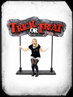 TRICK OR TREAT Sign, Halloween Party Ideas | Halloween Theme Prop Hire - Event Prop Hire