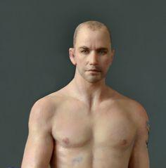 SEXY MALE  PAINTER, Miniature  1:12, OOAK, Art  Sculpture by AMSTRAM