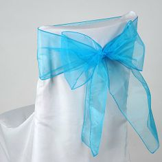 Turquoise Organza Chair Sash 8 inches x 108 inches - Pack of 10 BBCrafts,http://www.amazon.com/dp/B0071V2ZM2/ref=cm_sw_r_pi_dp_3AYFtb0G02F2GTTB