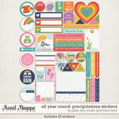 All Year Round: Precipitations Stickers by Traci Reed and Jady Day Studio - Remember, you can purchase any item in this collection individually, OR purchase the bundle and save $$$! #jadydaystudio #tracireed #allyearround