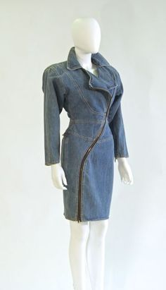 Denim dress by Santana, American, late 1980s