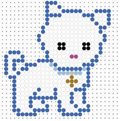 Cute White Puppy Perler Bead Pattern