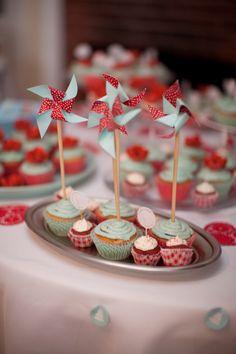 Windmill cupcakes