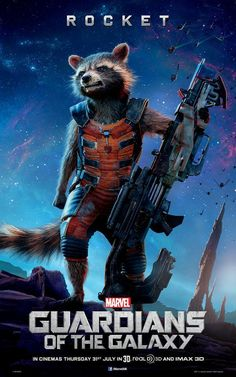 Guardians Of The Galaxy: New Rocket Raccoon, Groot, And Gamora Character Posters | Comicbook.com