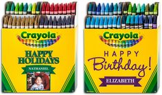 Crayola My Way custom crayons in boxes of 8, 64, or in their Custom Art Case