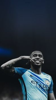Gabriel Jesus Manchester City Lockscreen Wallpaper by adi-149