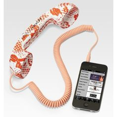 Rebecca Minkoff Pop Cellphone Handset ($48) found on Polyvore