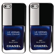 Blue Chanel Nail polish iphone 4 case