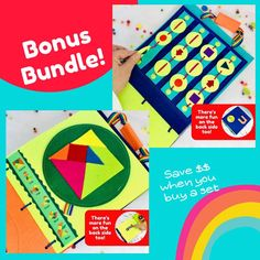 Set of 2 Quiet Book Pages - Learning toys to help develop Kindergarten Skills Montessori Activities, Educational Activities, Learning Activities, Time Activities, Kindergarten Age, Kindergarten Activities, Learning To Write, Learning Toys, Felt Letters