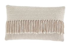 Signature Design Medea Pillow - Ashley Furniture accent pillow brings beautiful texture to your home. Cream and tan tassels accentuate the front with style. Beautifully woven design brings a warm look to even the coldest of Cream Pillows, Accent Pillows, Couch Pillows, Cushion Pads, Texture Design, Pillow Set, Pillow Talk, Dot And Bo, Signature Design