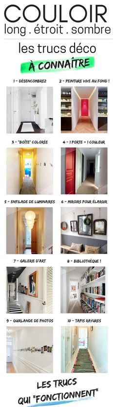 Long and Narrow Corridor Decoration Effective Tips + Errors to Avoid) – - New Deko Sites Home Staging, Ideas 2017, Corridor Design, Interiores Design, Home Projects, Diy Home Decor, Decoration, Sweet Home, New Homes