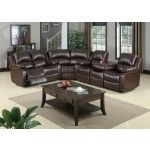 Mariano Italian Leather - 3 Piece Recliner Sectional - BQS488P1 SPECIAL PRICE: $1,634.00
