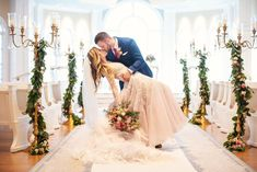 Wedding portraits in Disney's Wedding Pavilion ceremony venue