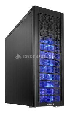 Lian Li PC-A77FB Big-Tower in schwarz. Im Bereich der Big-Tower zählt der PC-A77 zu den beliebtesten Lian-Li-Modellen, da er massig Platz für alle Arten von Hardware, gute Voraussetzungen für die Integration einer Wasserkühlung und ein leistungsfähiges Belüftungssystem mitbringt. Mit dem PC-A77F erscheint nun der designierte Nachfolger mit zahlreichen Verbesserungen.