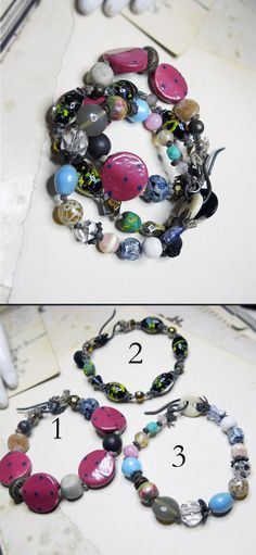 Beaded Bracelet  Pick One  Ceramic Glass Polymer by shipwreckdandy, $29.00