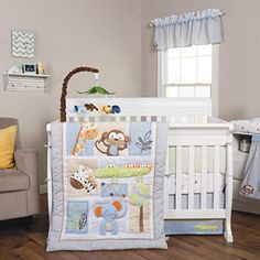 Shop Trend Lab® Jungle Fun 6 Piece Crib Bedding Set at Boscov's online! Find a huge selection of Baby & Toddler Bedding Sets for the lowest prices today! Baby Crib Bedding Sets, Crib Sets, Nursery Bedding, Baby Cribs, Nursery Room, Safari Nursery, Nursery Decor, Bedroom, Soothing Colors