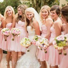 45 Pretty Pink Wedding Details Pink Chiffon Bridesmaid Dresses – The Knot