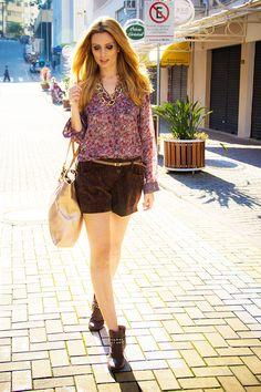 camisa + shorts de veludo