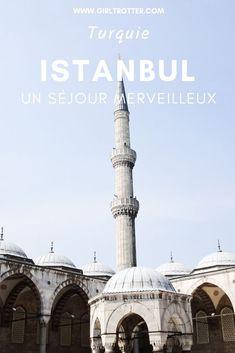 Découvrir Istanbul : un séjour merveilleux ⋆ Girltrotter, le blog voyage et aventure #Voyage #Asie #Turquie #Istanbul Destinations, Le Palais, Blog Voyage, Taj Mahal, Europe, Orient, Landscape, Continents, City